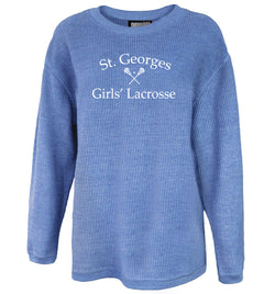 St. Georges Girls' Lacrosse Washed Cord Crew Sweatshirt 5670