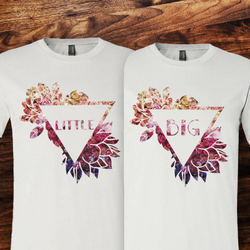 Big Little Triangle Flower Tee