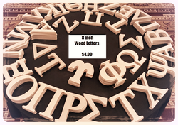 Wood Letters 8 inches
