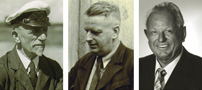 Von links: Emil Wagner (1891), Willy Wagner (1922) und Reinhard Wagner (1953)