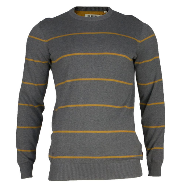 Ben Sherman - Striped Mens Crewneck Sweater