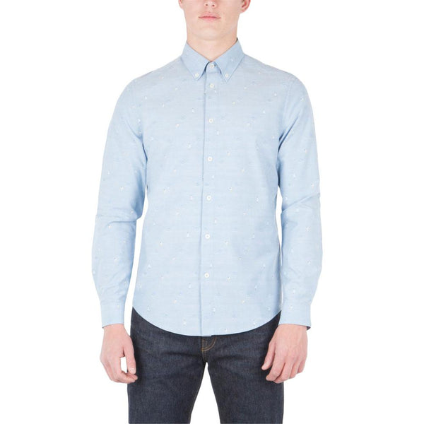 Ben Sherman - Jacquard Beach Mens Button-Up Long Sleeve Shirt