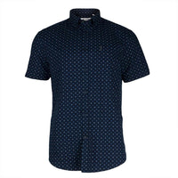 Ben Sherman - Split Target Print Mens Button-Up Short Sleeve Shirt