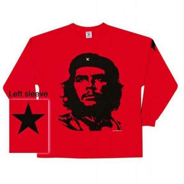Che Guevara - Face Red Long Sleeve T-Shirt