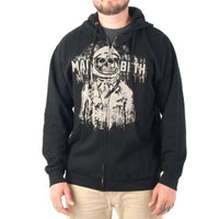 Macbeth - Deathnaut Black Adult Zip-Up Hoodie