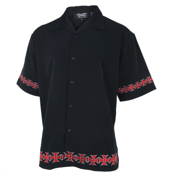 Border Cross Embroidered Club Shirt