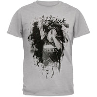 Atticus Black - Splatter Portrait Grey T-Shirt