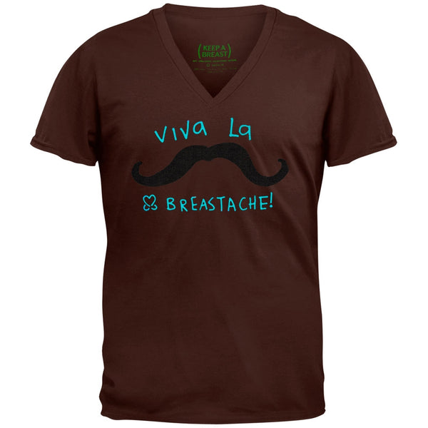 Keep A Breast - Breastache Acid Wash Adult V-Neck T-Shirt