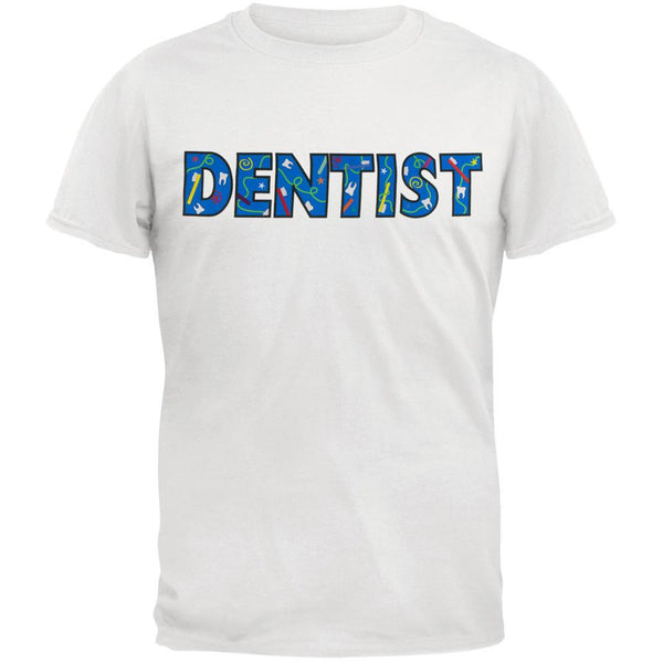 Dentist Colorful Logo White Adult T-Shirt