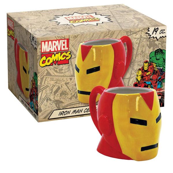 Iron Man - Molded Head 19oz Ceramic Mug