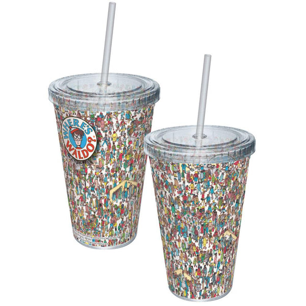 Where's Waldo - Department Store Acrylic Tumbler With Straw