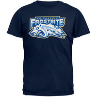 Adirondack Frostbite - Away Logo Navy Adult T-Shirt