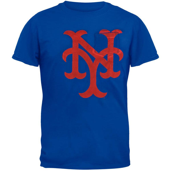 New York Mets - Logo The Heavy Vintage Pocket Adult T-Shirt