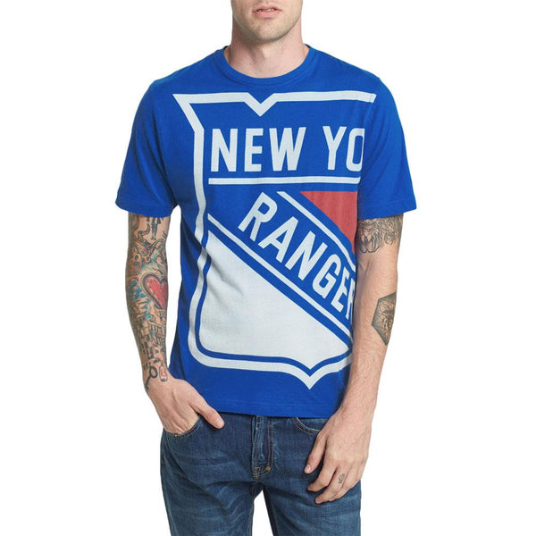 New York Rangers - Overgrown Logo Soft Adult T-Shirt