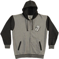 Rolling Stones - Tongue Varsity Adult Zip Hoodie