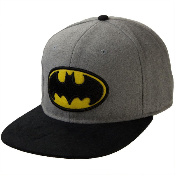 Batman - Logo Felted Wool Adjustable Baseball Cap