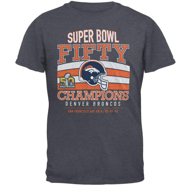 Denver Broncos - Super Bowl 50 Champions Classic Game Tri-Blend Adult T-Shirt