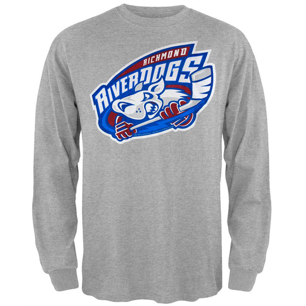 Richmond Riverdogs - Logo Long Sleeve Grey T-Shirt