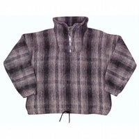 Earth Ragz - Plaid Pullover Zip Neck Jacket