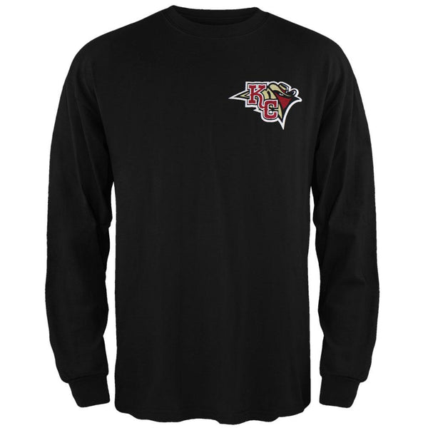 Kansas City Outlaws - Dual Logo Black Long Sleeve T-Shirt