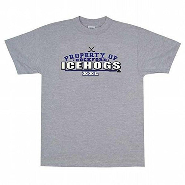 Rockford IceHogs - Property Of XXL Adult T-Shirt