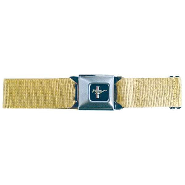 Mustang Seatbelt - Tan Web Belt