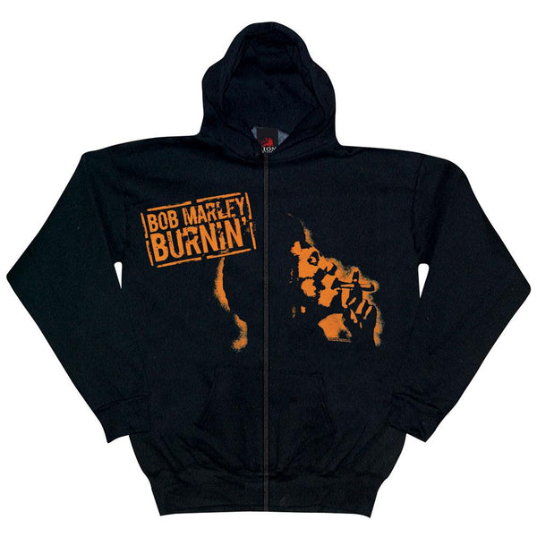 Bob Marley - Burnin Zip Up Lightweight Hoodie