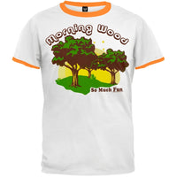 Morning Wood White/Orange Ringer T-Shirt