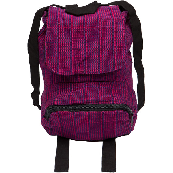 Small Woven Knapsack Assorted Colors