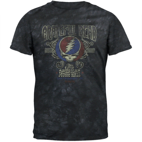 Grateful Dead - American Music Hall Grey Tie Dye T-Shirt