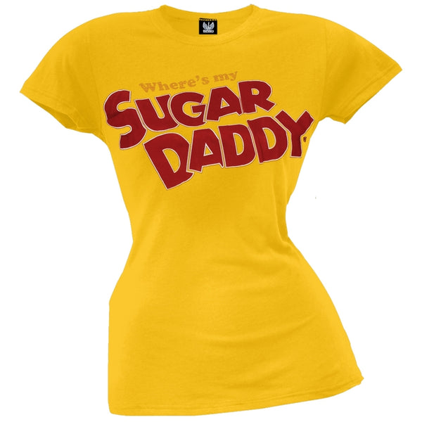 Sugar Daddy - Where's My Daddy Juniors T-Shirt