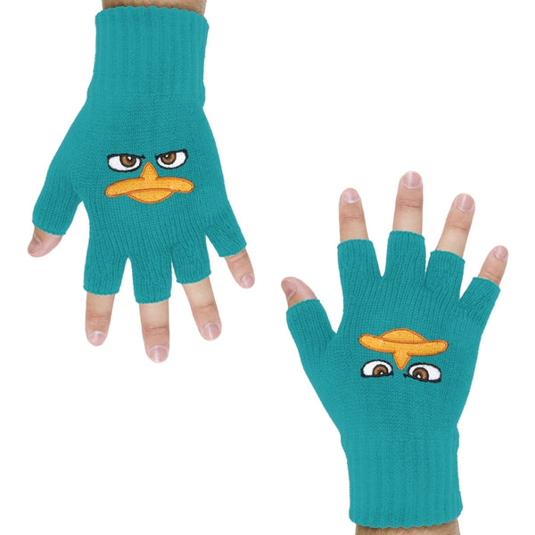 Phineas & Ferb - Perry Face Fingerless Gloves