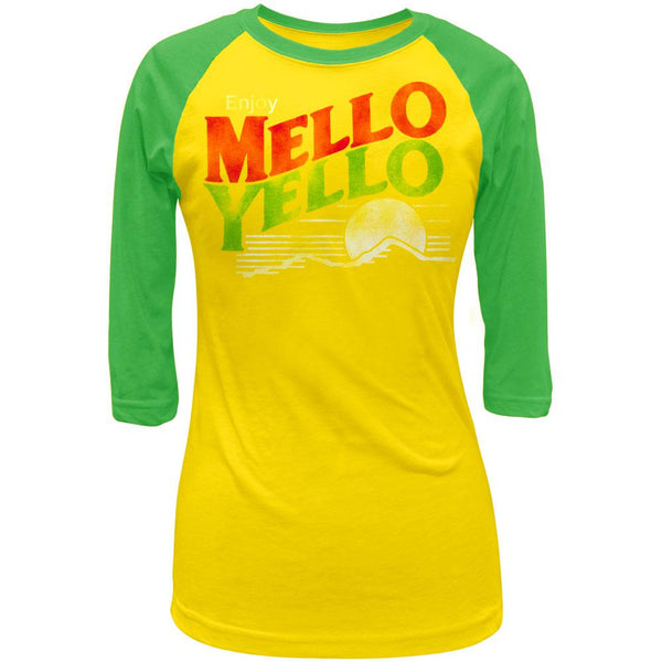 Mello Yello - Distressed Logo Juniors Raglan Shirt
