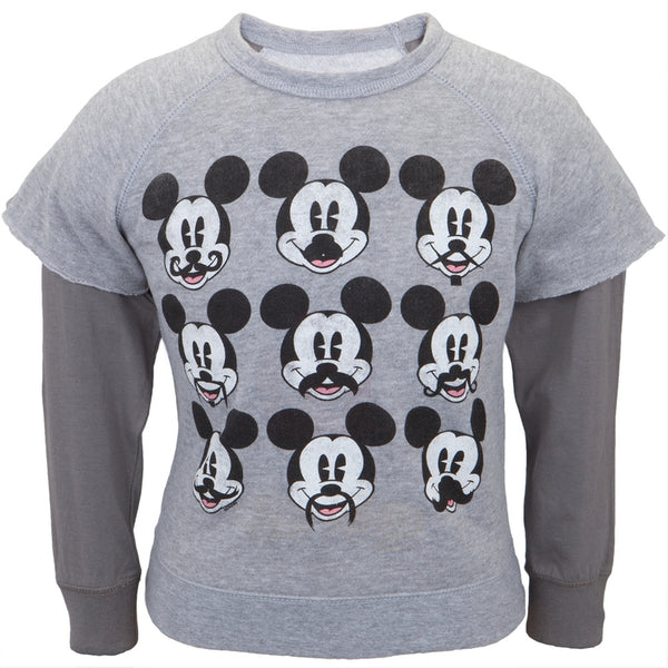 Mickey Mouse - Mustache Juvy Reversible Crewneck Sweatshirt