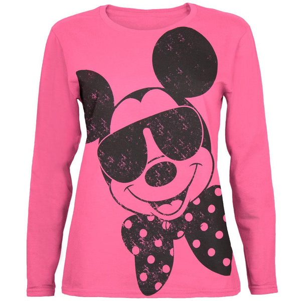 Mickey Mouse - Bow Juniors Long Sleeve T-Shirt
