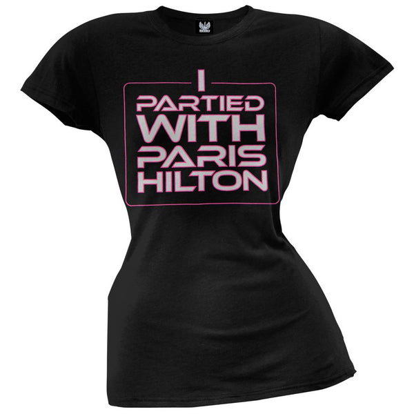 Paris Hilton - I Partied With Paris Juniors T-Shirt