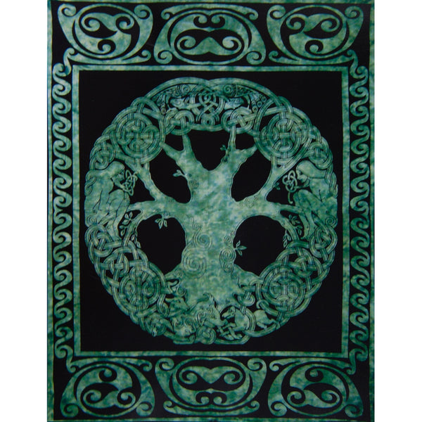 Tree of Life Emerald Single Tapestry