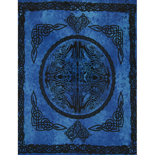 Web of Life Blue Single Tapestry