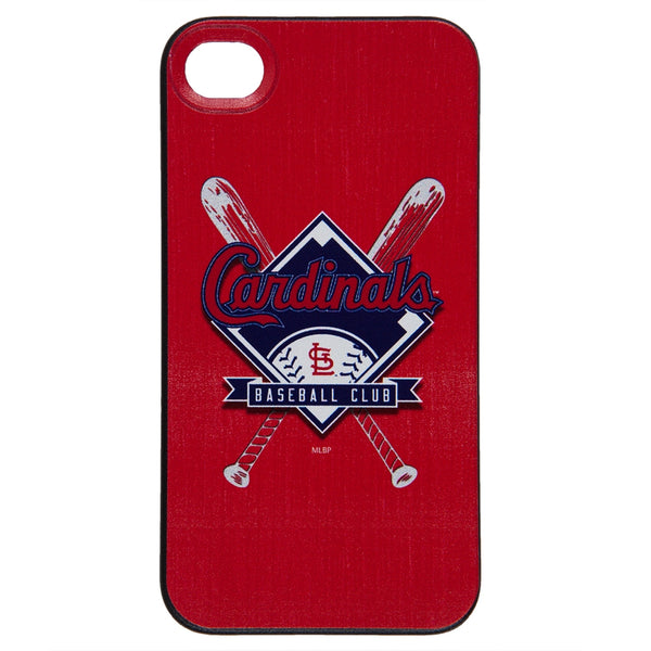 St. Louis Cardinals - Crossed Bat Logo Stitch iPhone 4/4S Thinshield Snap-On Case