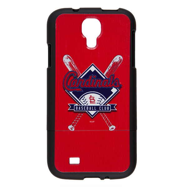 St. Louis Cardinals - Crossed Bat Logo Stitch Samsung Galaxy S4 Thinshield Snap-On Case