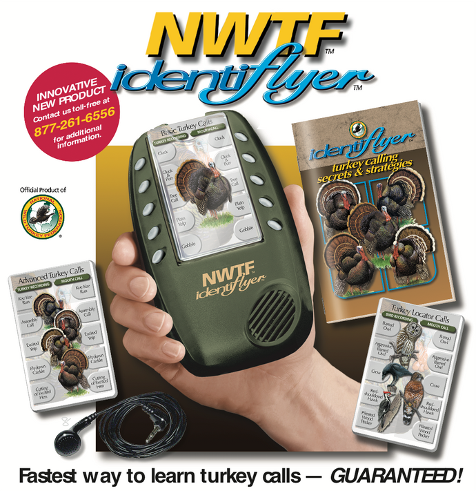 NWTF Turkey Call Sportsmen IdentiFlyer