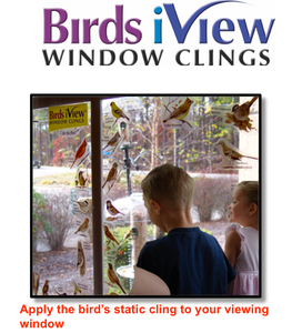 Birds iView Window Clings