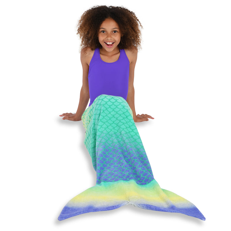 Aqua Mermaid Towel Tail