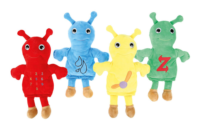 The Baby Beetles hand puppets