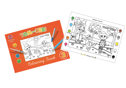 Tom and Keri's Colouring book 3