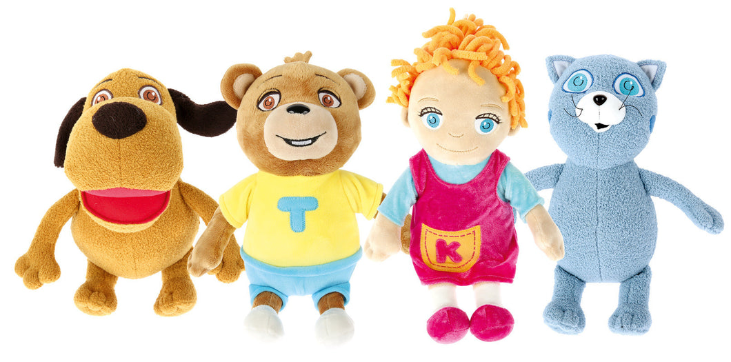 The Tom and Keri soft toys