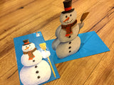 3D Pop-Up-Karte Schneemann