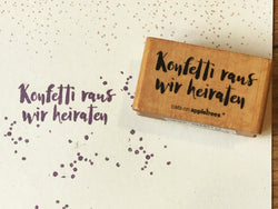 "Textstempel ""Wir heiraten"" (Cats on appletrees)"