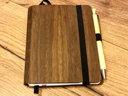 Woodbook A6 Jungholz-Design Walnuss