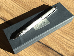 LAMY logo twin pen brushed
